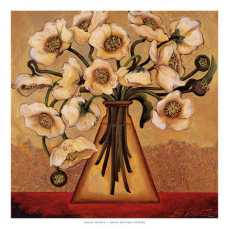 B1370 - Bartek, Shelly - White Autumn Poppies