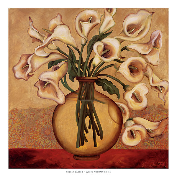 B1371 - Bartek, Shelly - White Autumn Lilies