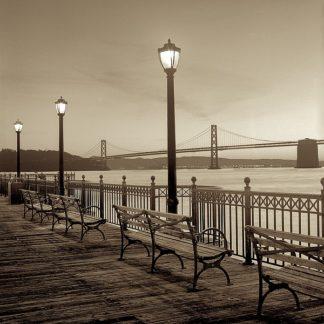 B2735D - Blaustein, Alan - San Francisco Bay Bridge at Dusk