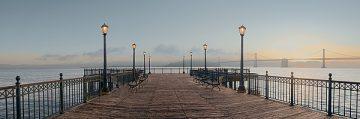 B3131D - Blaustein, Alan - Pier with Bay Bridge Vista