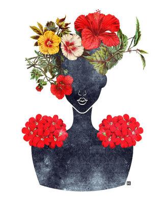 B3261D - Brown, Tabitha - Flower Crown Silhouette I