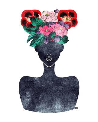 B3262D - Brown, Tabitha - Flower Crown Silhouette II