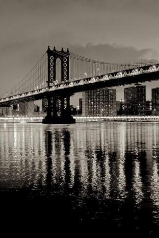 B3265D - Blaustein, Alan - Manhattan Bridge at Night