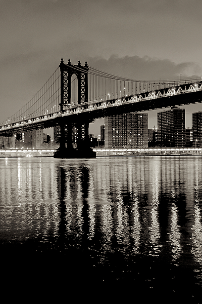 B3265D - Blaustein, Alan - Manhattan Bridge at Night