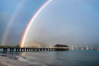 B3331D - Burt, Daniel - Rainbows at Hanalei