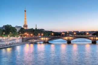 B3416D - Blaustein, Alan - Twilight on the Seine
