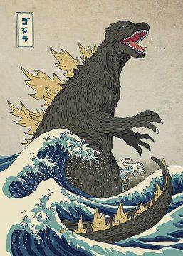 B3459D - Buxton, Michael - The Great Monster off Kanagawa