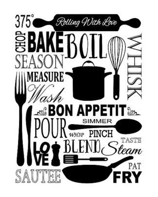 F383D - Fuqua, Leslie - Culinary Love 1 (black & white)