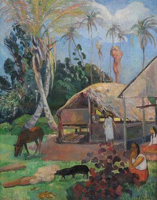G802D - Gauguin, Paul - The Black Pigs
