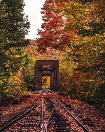 G889D - Getty, Bruce - New England Train Trestle Bridge
