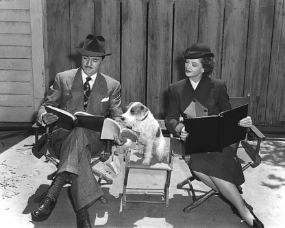H1371D - Unknown - 'The Thin Man' William Powell, Myrna Loy & Asta