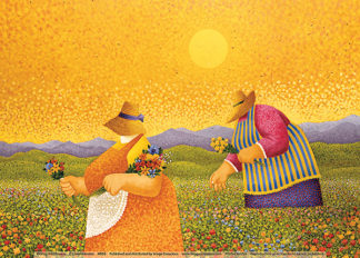 H955 - Herrero, Lowell - Picking Wildflowers