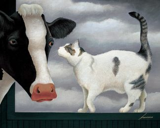 H978D - Herrero, Lowell - Cow and Cat
