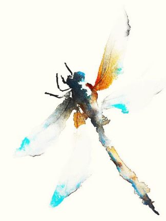 J362D - Johannesson, Karin - Blue & Brown Dragonfly