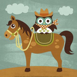 L605 - Lee, Nancy - Cowboy Owl on Horse