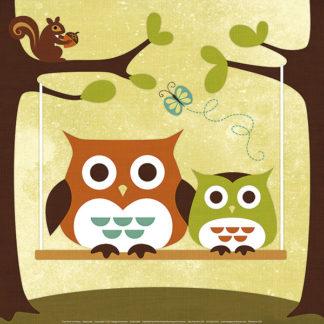 L606 - Lee, Nancy - Two Owls on Swing