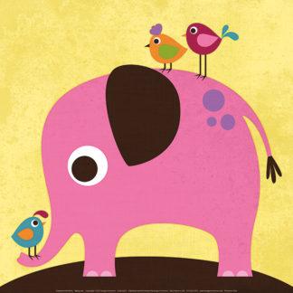 L621 - Lee, Nancy - Elephant with Birds