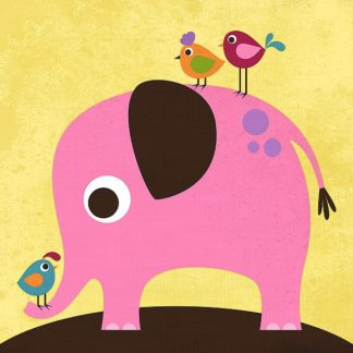 L621D - Lee, Nancy - Elephant with Birds