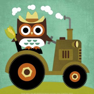 L694 - Lee, Nancy - Owl on Tractor