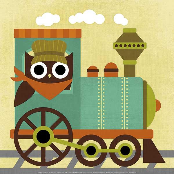 L695 - Lee, Nancy - Owl Train Conductor