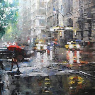 L827D - Lague, Mark - Manhattan Red Umbrella