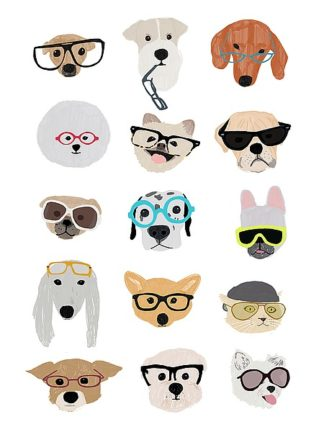 M1222D - Melin, Hanna - Dogs with Glasses