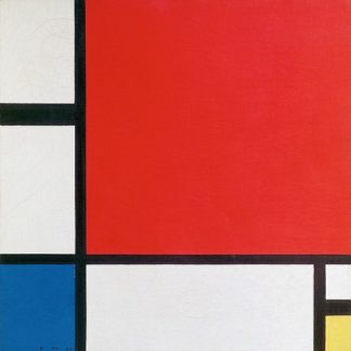 M1392D - Mondrian, Piet - Composition II in Red, Blue, and Yellow