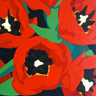 P971D - Porter, Susan - Red Tulips