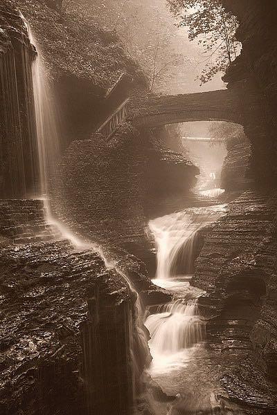 S1403D - Svibilsky, Igor - Waterfall on a Rainy Day
