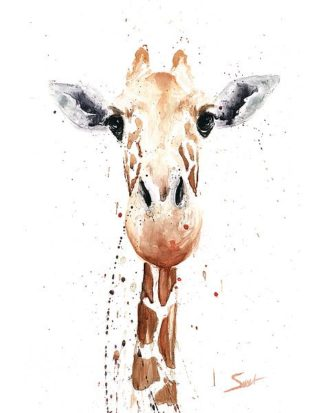 S1471D - Sweet, Eric - Giraffe Watercolor