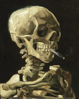 V553 - Van Gogh, Vincent - Skull with Burning Cigarette