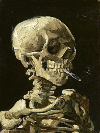 V553D - Van Gogh, Vincent - Skull with Burning Cigarette