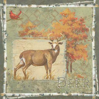 AP1911 - Phillips, Anita - Deer / Deer / Elk on Green
