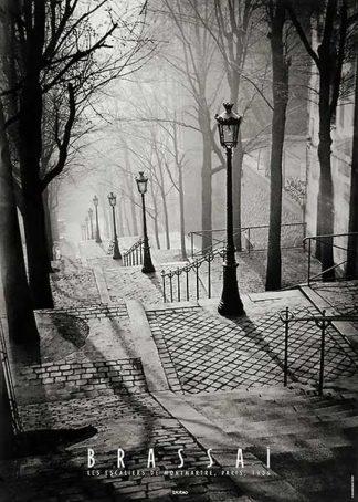 B1373 - Brassaï - Escalier de la Butte Montmartre