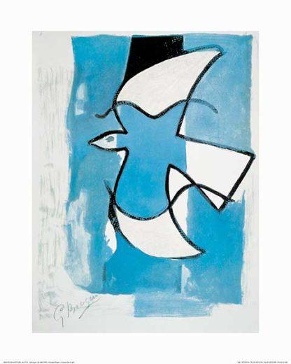 B2671 - Braque, Georges - L'Oiseaux Bleu et Gris
