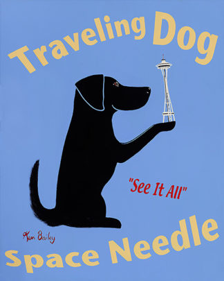 B2731 - Bailey, Ken - Traveling Dog Space Needle