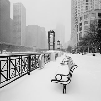 B2915 - Butcher, Dave - Chicago River Promenade in Winter