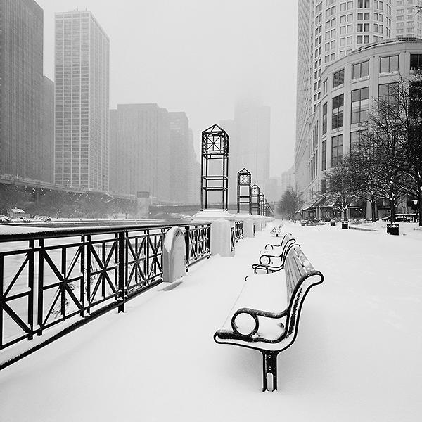 B2915 - Butcher, Dave - Chicago River Promenade in Winter