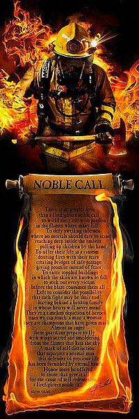 B3324 - Bullard, Jason - Firefighter's Noble Call (Poem)