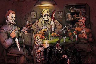 B3486 - Big Chris Art - Slashers Playing Poker