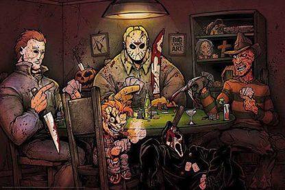 B3486 - Big Chris Art - Slashers Playing Poker