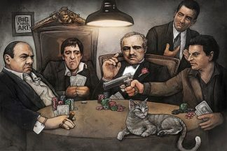 B3488 - Big Chris Art - Gangsters Playing Poker