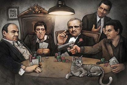 B3488 - Big Chris Art - Gangsters Playing Poker