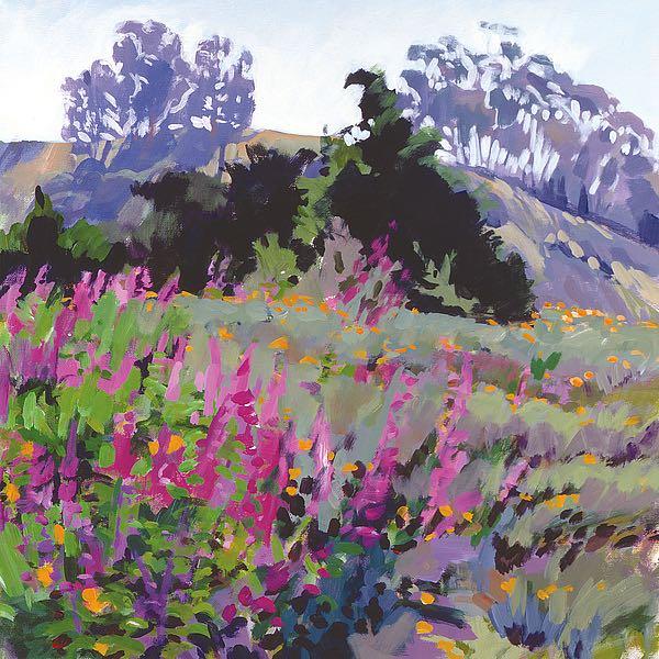 B3530D - Burtt, Marcia - Spring Haze, Eucalyptus on the Ridge