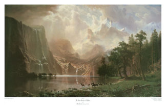 B554 - Bierstadt, Albert - The Sierra Nevada in California