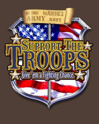 BM1254 - Baldwin, Jim - Support the Troops Badge