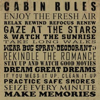 BM1837 - Baldwin, Jim - Cabin Rules
