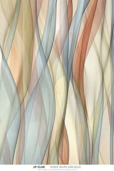 C976 - Clive, J.P. - Sheer Taupe and Blue