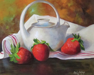 CW1076 - Wollenberg, Cheri - Strawberries and White Teapot