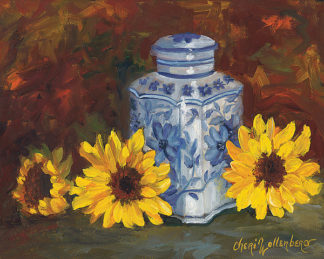 CW1082 - Wollenberg, Cheri - Blue and White Vase